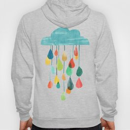 cloudy with a chance of rainbow Hoodie