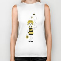bees Biker Tanks featuring Bees by Flora