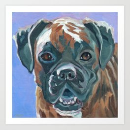 Boone the Boxer Dog Portrait Art Print