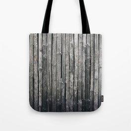 dark vertical wood Tote Bag