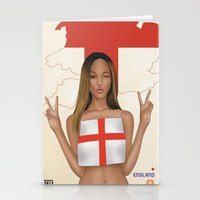 england Stationery Cards featuring England by Kingdom Of Calm - Print On Demand