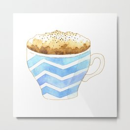 Capuccino Foam Cup Metal Print