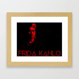 Frida Kahlo (Ver 5) Framed Art Print