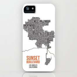 Sunset Boulevard iPhone Case