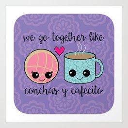 Concha Y Cafecito Art Print