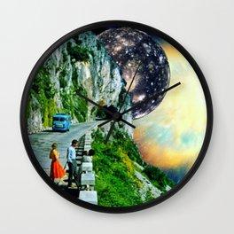On the Horizon Digital Collage Wall Clock