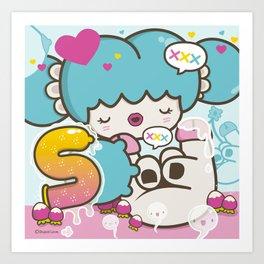 ♥ S ♥ Art Print