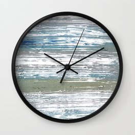 Silver striped Wall Clock