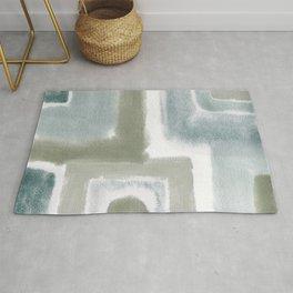 Watercolor Squares Neutral Palette Rug