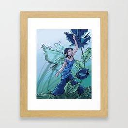 Blending In: a spring fairy Framed Art Print