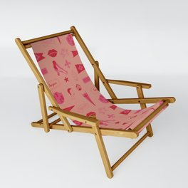 Patches - Pink + Red Sling Chair