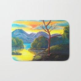 Lakeside Sunset Bath Mat