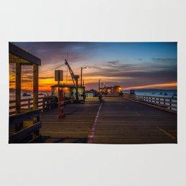 Sunrise on the Pier Avila Beach California Rug