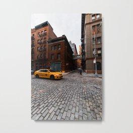 Yellow Cab at Staple Street Metal Print
