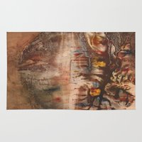 middle earth Area & Throw Rugs featuring Middle of the Earth by Loredana