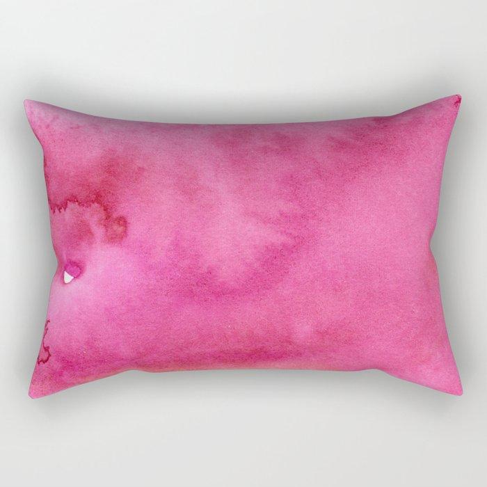 Blush pink magenta watercolor paint gradient Rectangular Pillow