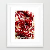 pomegranate Framed Art Prints featuring Pomegranate  by Libertad Leal Photography