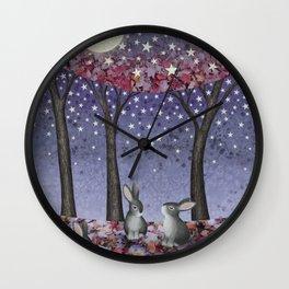 starlit bunnies Wall Clock