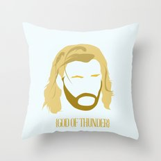 MINIMALIST THOR - THE AVENGERS Throw Pillow