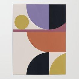 Mid Century Modern Abstract II Poster
