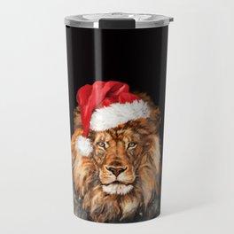 Christmas King Lion Travel Mug