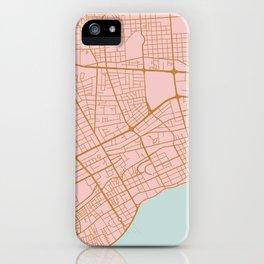 Pink Santo Domingo map iPhone Case