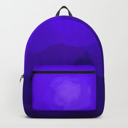 Glowing Blue Rose Emerging from  Darkness Backpack