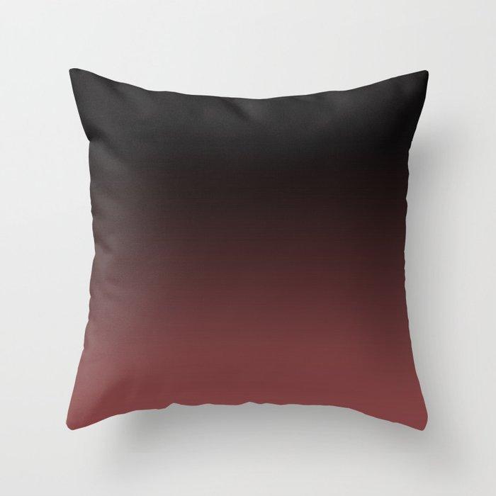 Marsala Ombre Throw Pillow