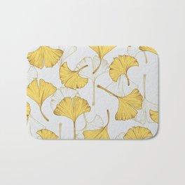 Ginkgo Pattern Bath Mat