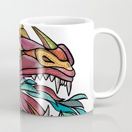 Dragon Breathing Fire Mandala Coffee Mug