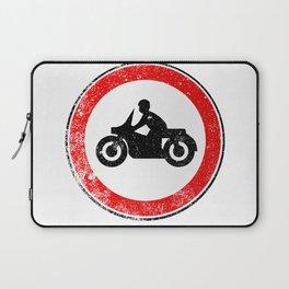 Motorcycle Round Traffic Sign Grunge Laptop Sleeve