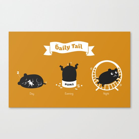 The Daily Tail Hamster Canvas Print