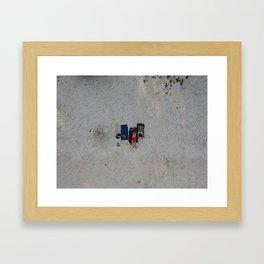Aerial Beach Towels Framed Art Print