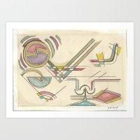 kandinsky Art Prints featuring In the Key of Kandinsky (2014) by Eli Dorman