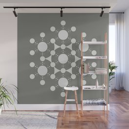 flower of life, alien crop circle, sacred geometry Wall Mural
