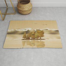 Golden Landscape Rug