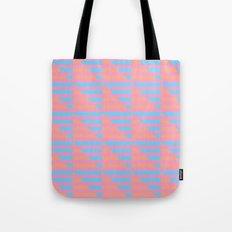 Pink Blue Peach Houndstooth /// www.pencilmeinstationery.com Tote Bag