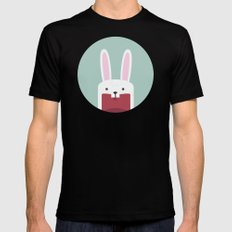 Jawdrop Bunny Black MEDIUM Mens Fitted Tee