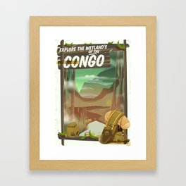 Explore the Wetlands of the Congo Framed Art Print