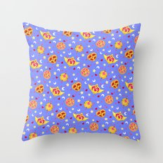 Sailor Moon Brooches Pattern - Blue / Sailor Moon Throw Pillow