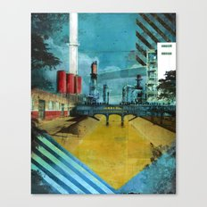 LA River Blues Canvas Print