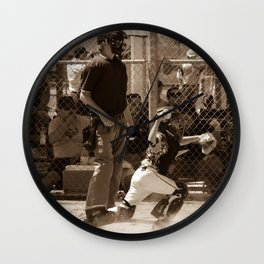 Hold Him Off Wall Clock