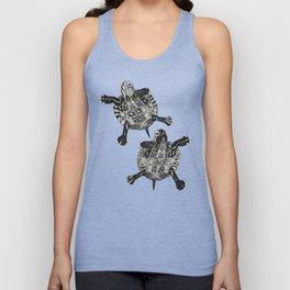 turtle party surf blue Unisex Tank Top