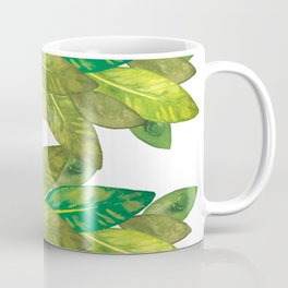 Watercolor edited digitally - Think green! Coffee Mug
