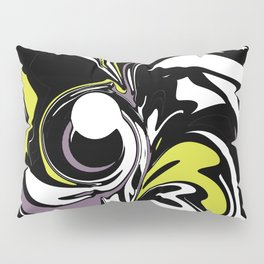 Abstract Fairy in Lime and Purple Pillow Sham