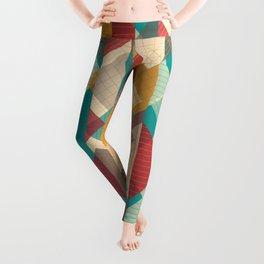 Geometric Geek Pattern - Squares, Stripes, Grids Leggings