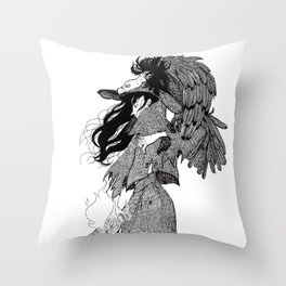 The Witch of Prey Throw Pillow