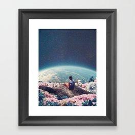 My World Blossomed when I Loved You Framed Art Print