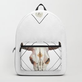 Geometric bull skull Backpack