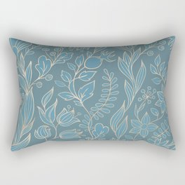 Blueprint Color of the year - Floral 4 Rectangular Pillow